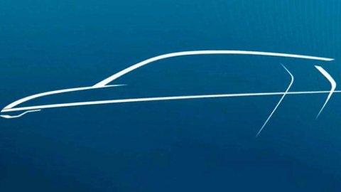 Dette er første, offisielle skisse av det som skal bli åttende generasjon VW Golf. Den kommer til neste år.