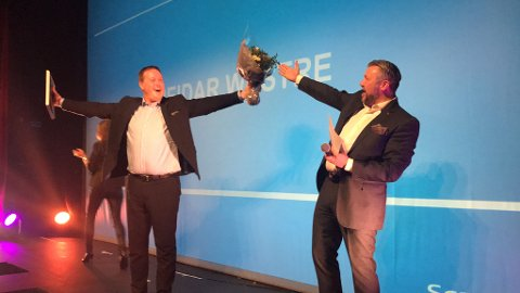 Scandic Maritim-direktør Reidar Westre (t.v.) og Scandic Norge-sjef Svein Arild Steen Mevold.