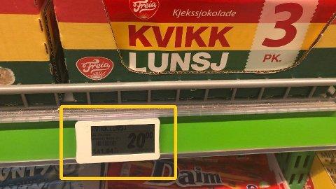 Dagligvarekjedene dumper prisen på flere sjokoladeprodukter, som Kvikk Lunsj, i høstferien.