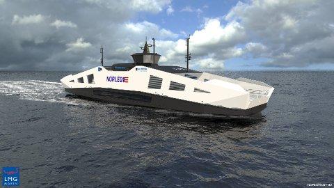 Illustrasjonsfoto av den kommende Hydrogenferjen til Norled.