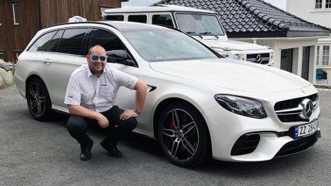 Erlend Kvala er utvilsomt en hardbarka bil- og Mercedes-entusiast. Nå kjører 28-åringen en splitter ny AMG E 63 S som taxi. Det er det få andre i verden som gjør.