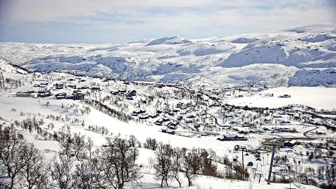 SLIK SER DET UT: Torsdag ettermiddag ser det sånn ut på Haukelifjell skisenter. Lørdag åpner skisenteret igjen, i første omgang for en helg.