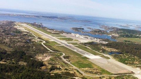 REDDET UT ÅRET: Haugesund lufthavn på Helganes får millioner i støtte.