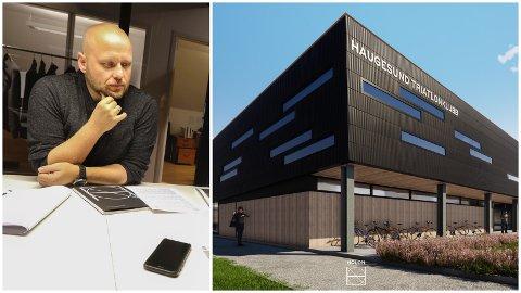 SER FRAMOVER: Haugesund Triatlonklubb, her ved styreleder Pål Stolt-Nielsen Reksten, jobber videre med HTK-hallen.
