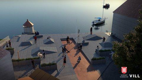 BYBAD: Slik kan Skudeneshavn sitt nye bybad se ut.