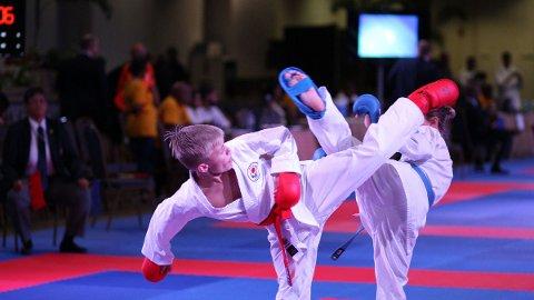 Sander Nygård (13) fra Nesna tok to medaljer under VM i karate.