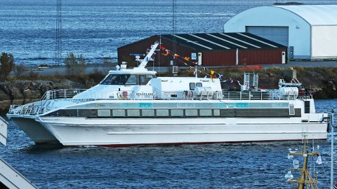 M/S «Helgeland» hadde flagg på i anledning 20-årsdagen 10. oktober.