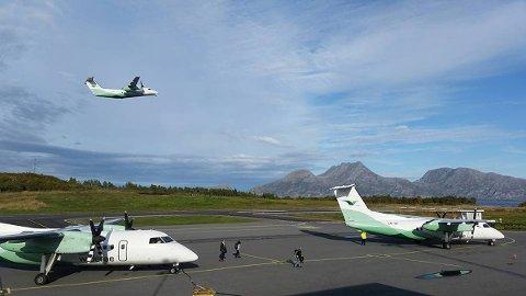 Sandnessjøen Lufthavn Stokka, Widerøe, fly, luftfart, flyplass