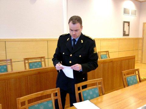 Aktor: Politiadvokat Jonas Nerdal fikk medhold i sin påstand om 45 dagers fengsel for 21-åringen fra Mosjøen. Foto: Pål Leknes Hanssen