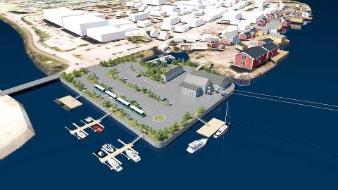Helgeland Skylift ønsker seg dette området som startstasjon for den planlagte gondolbanen til toppen av Øyfjellet.