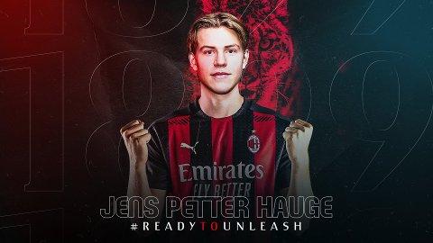 BEKREFTET: Både AC Milan og Bodø/Glimt bekrefter at Jens Petter Hauge har signert for den italienske giganten.