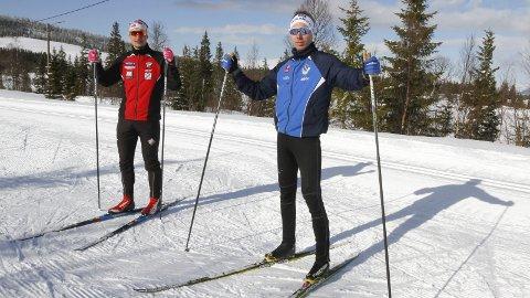 SKI - Løping - SYKKEL: Joakim Klaussen Aakvik (t.h.) og Jesper Abelsen Andreasen er to av de tre som kjemper i toppen sammanlagt i Stravakonkurransen. Denne uka er det løping til Marsøra, og det hele avsluttes med en sykkeletappe til Øksendalsåsen.  Foto: Per Vikan