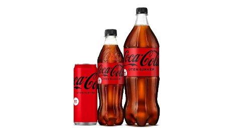 NY SMAK: Coca-Cola uten sukker kommer nå i ny design, og med en ny smak. Begge deler gjør at Coca-Cola uten sukker blir enda likere den originale Coca-Cola. Foto: (Coca-Cola)