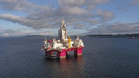 FANT MER OLJE: Boreriggen «Transocean Enabler» fant betydelige tilleggsressurser til Johan Castberg-feltet. Foto: Songa Offshore