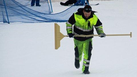 En av klubbens fivillige ildsjeler, Jørn Stian Barstad, primus motor for park, hopp og rails.