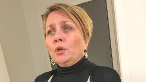 HAR HATT SIN VERSTE DAG: Aina Borch (Ap) sier hun har hatt sin verste dag som ordfører i dag, etter å ha lidd nederlag i budsjettsaken.