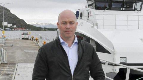 GODT CRUISEÅR: Havnesjef Hans Roar Christiansen ved Alta Havn er fornøyd med de 19 cruisebåtene som har meldt sin ankomst i 2017. Målet er å få i havn 20 i året. Foto: Oddgeir Isaksen