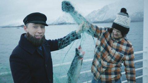 KOMPISER: Stig Frode Henriksen og Jørn Tore Nilsen er tilbake i rollene som Kurt Josef Wagle og Rock Fjellstad. De har vokst opp sammen, og har spilt i en rekke filmer sammen de siste ti årene. Nå er de snart premiereklare igjen.