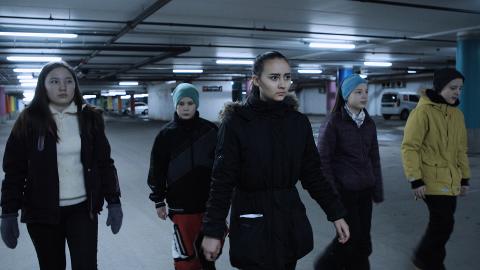SKREKKFILM: Dette bildet er fra skrekkfilmen som samisk ungdom skulle ha premiere på i kveld.