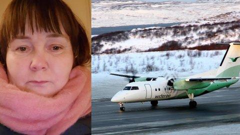 IKKE FORNØYD: Irene Mathisen fra Rypefjord er nå bosatt i Træna. Hun brukte fem dager denne uken på å komme seg frem og tilbake for en legetime i Tromsø. Uholdbart mener hun.