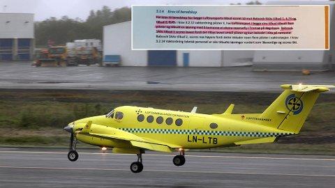Illustrasjonsfoto: Et luftambulansefly er på tur inn på Langnes.