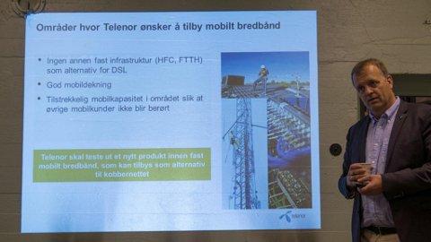 FASTTELEFONI UT: Moderniseringsdirektør Arne Quist Christensen er nå klar på at kobbernettet for fasttelefoni skal fases ut. Det samme skjer med 3G-nettet.