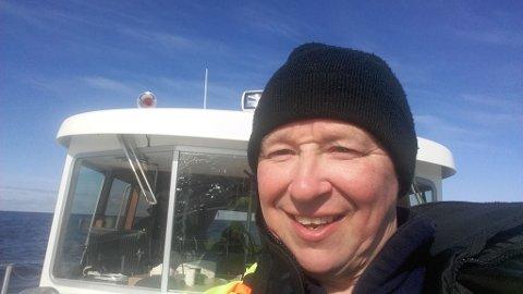 NY JOBB: Johnny Olaussen på jobb for Nordic Safari. Foto: Privat