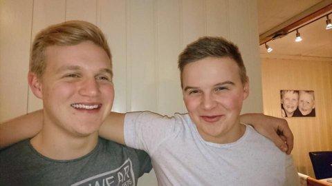 MINNER BROREN: I et Facebook-innlegg hyller Henning Pedersen (t.h. 20) lillebroren Håvard Pedersen (18) som ble drept i Vadsø lørdag kveld.