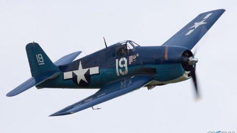AMERIKANSK JAGER: Dette er det amerikanske jagerflyet Grumman F6F-3 Hellcat. Flyet ble brukt på hangarskip under den andre verdenskrig.