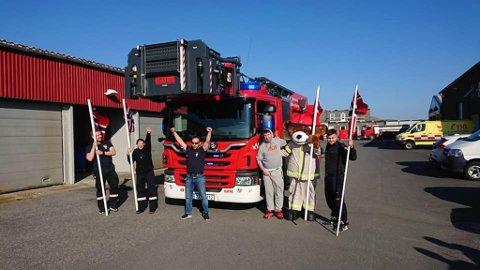 JUBEL: Mandag var en stor dag for Hammerfest brannvesen.