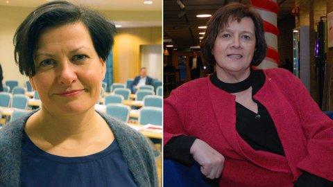 STÅR MOT HVERANDRE: Helga Pedersen og Kristina Hansen står imot hverandre i den bitre konflikten i Finnmark Ap.