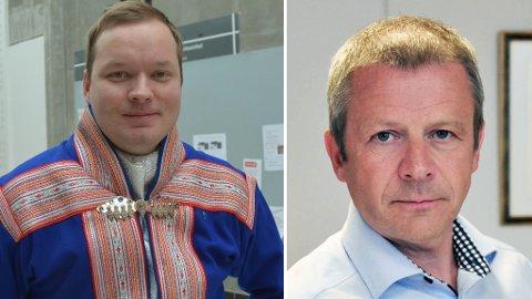 VIL HA KRAFTPENGER: Ole Steinar Østlyngen og Johan Vasara ønsker seg kraftverket i Sautso tilbakeført til kommunene fra Statkraft.