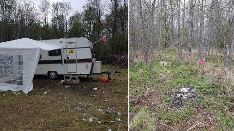 FORSØPLING: Disse bildene er sendt inn til Alta kommune i forbindelse med forsøpling. - Helt forferdelig, mener innsender.