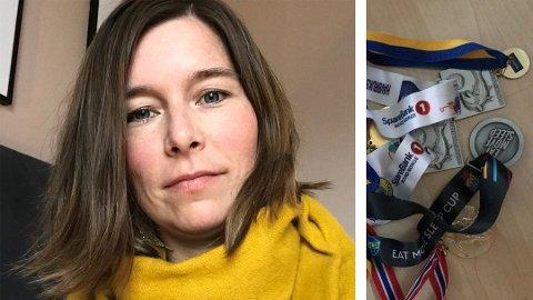 LEI: Anette Berger er lei av medaljer. Hun mener man bør finne miljøvennlige alternativer.
