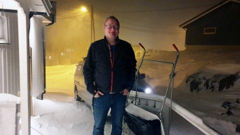UTEN DEKNING: Stig Rune Nergaard fra Båtsfjord er blant de som opplevde at internettet plutselig forsvant onsdag kveld.