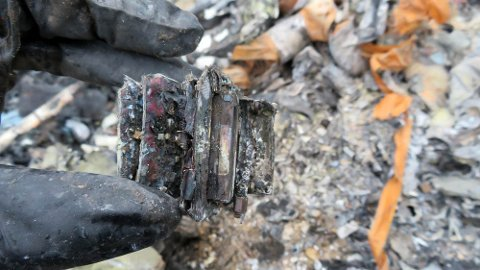 UTBRENT: Ferdskriveren i ulykkeshelikopteret var så skadd av brannen at man ikke fikk noen data ut av den hos ekspertene i Frankrike.