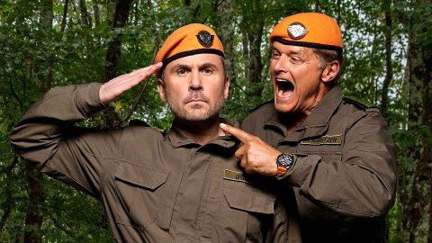 SUKSESS: Dag Otto Lauritzen (til høyre) og Kristian ødegård gjør stor suksess om dagen med tv-serien Kompani Lauritzen.
