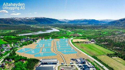 DETTE ER TOMTENE: Altahøyden utbygging AS har fått mange forespørsler etter at de lanserte planene sine denne uken.