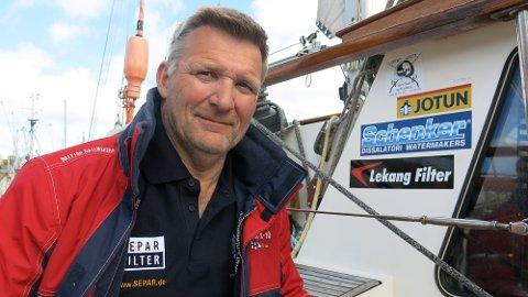BRUKER TIDEN FORNUFTIG: Korona har gjort det slik at Sailing the Good Life står uten inntekter. Roar Bekkelund velger å bruke tiden fornuftig.