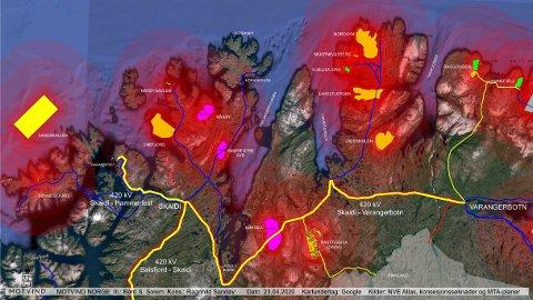STORE BILDET: Davvi vindkraftverk er kun ett av de mange vindkraftverk som planlegges i Finnmark, skriver Ragnhild Sandøy og Bård Solem i Motvind Norge.