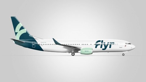 HAR LANDET PÅ FLYTYPE: Flyr har valgt flytypen Boeing 737-800. Her med designen til det nye norske flyselskapet.