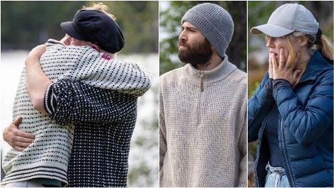 SJOKK-EXIT: «Torpet»-deltakerne Daniel Godø, Mohammed Sarmadawy og Amalie Lund reagerer sterkt på produksjonens avgjørelse. Foto: TV 2