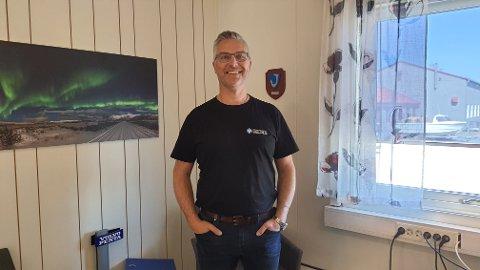 GLAD: Bjørn Aarnes er veldig godt fornøyd med fjoråret, som ga et skikkelig godt resultat for bedriften-