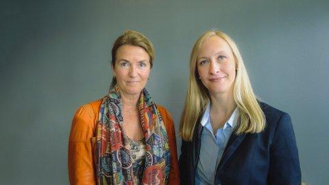 LEDER OG LEDER: Styreleder Marianne E. Johnsen har fått brev fra statsråd Odd Emil Ingebrigtsen om lederlønningene. Her med administrerende direktør Renate Larsen.