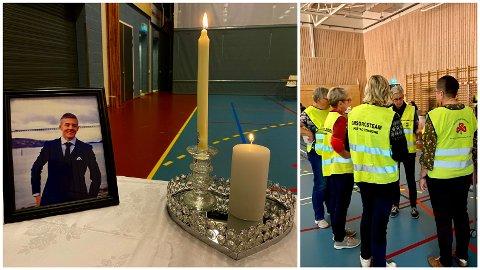 MINNESTUND: Gabriel Strætes minne ble hedret lørdag kveld. Til stede var Harstad kommunes psykososiale team.
