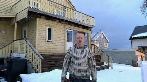 HUSEIER: – Jeg kjøpte min første leilighet i Harstad da jeg var 20. Så kjøpte jeg hus to år etterpå, sier Fredrik Røgeberg.