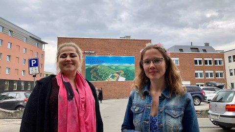 Line Merethe Rubach (t.v) og Lindis Haugan