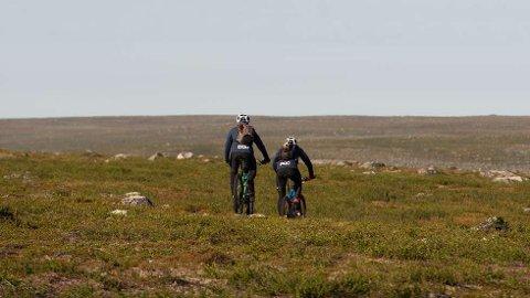 HENTET PÅ VIDDA: Bilde fra området på Finnmarksvidda hvor deltakeren ble hentet ut i dag