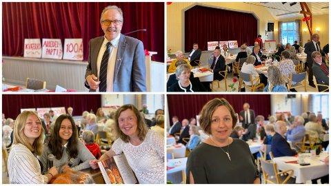 FEST: Lørdag feiret Kvæfjord Arbeiderparti 100 år som parti.