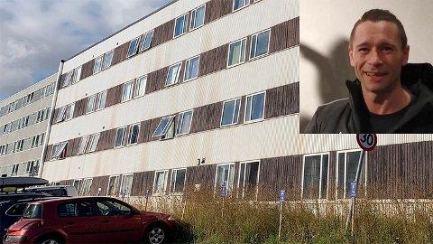 Anders Nicolai Holte Myhre er ikke overrasket over at brannen kan være påsatt. Flere beboere luktet bensin, sier han,